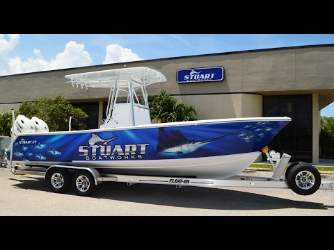 Latest Launch - Custom Wrapped Stuart 27 with Twin Suzuki's