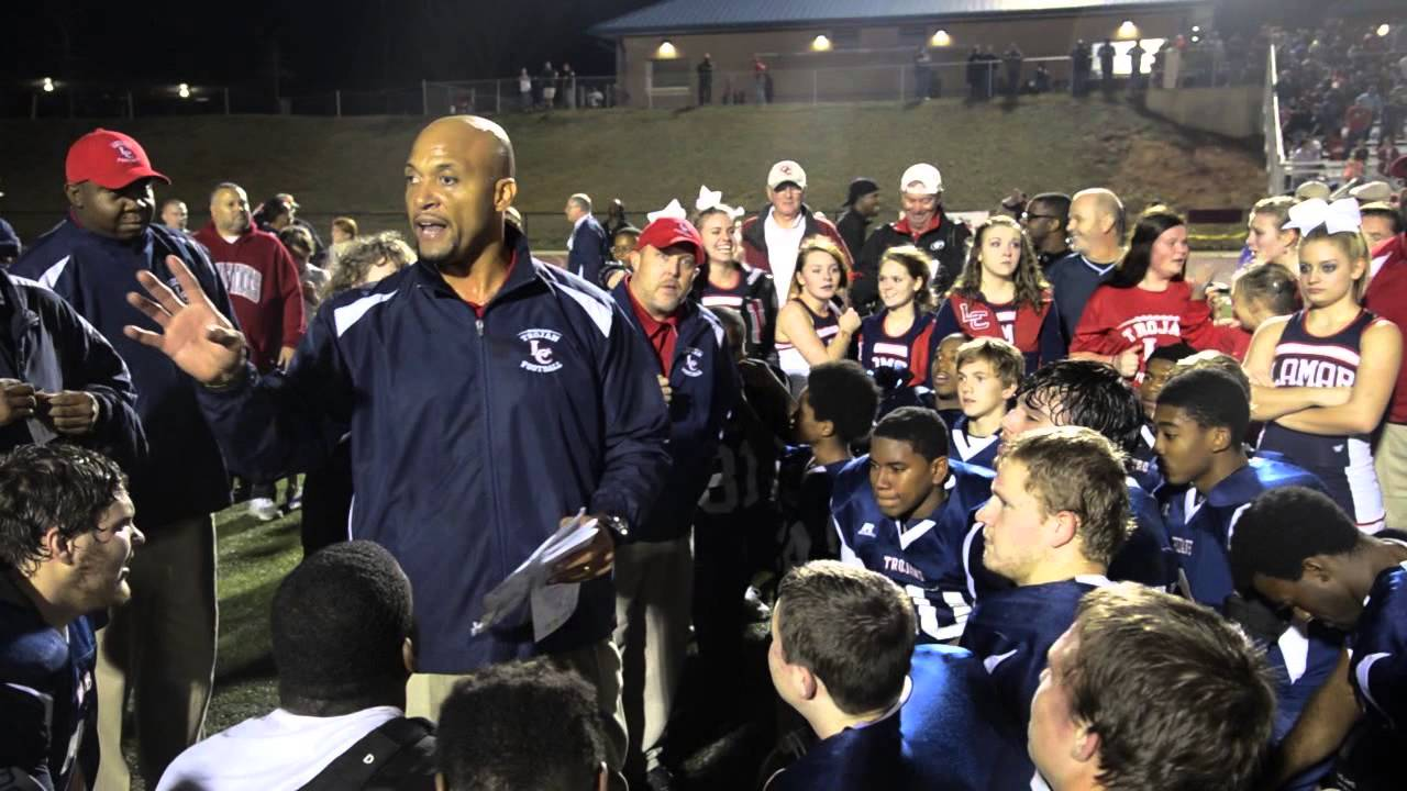 Lamar County coach after win - YouTube