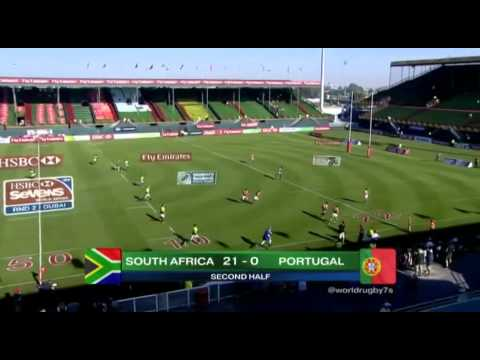 Emirates Airline Dubai Rugby Sevens 2014 - South Africa vs Portugal