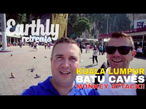 Kuala Lumpur - Batu Caves - MONKEY ATTACK!! - Travel Vlog - Malaysia - March 2017