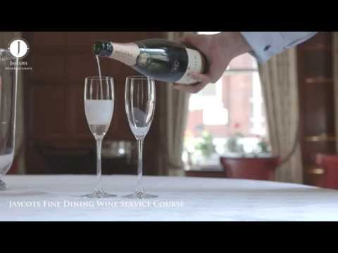 How to pour Champagne - Jascots Wine Service Training