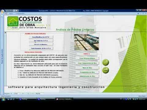 Costos y presupuestos de obra versi n 3 5 youtube - Presupuestos de obras ...