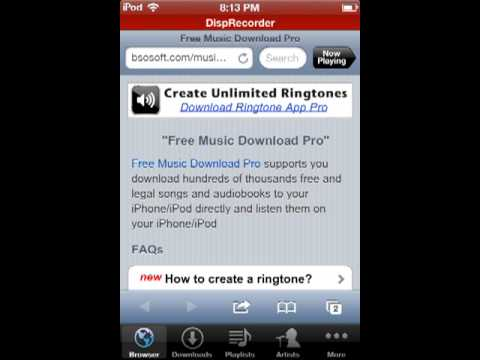 How to get free music on your iPod, iPhone, or iPad. NO JAILBREAK NEEDED! FREE NO COMPUTER