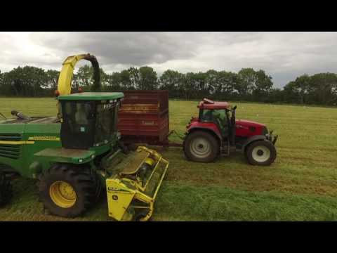 2016 FERMANAGH GRASS CUTTING WITH FERGUSON ARGI : DRONE SHOTS : NORTHER IRELAND