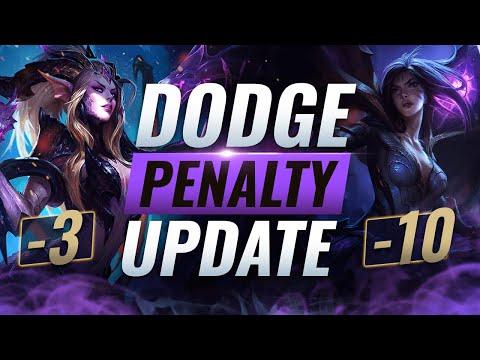 HUGE UPDATE: DODGE PENALTY NERFS CHANGED - League Of Legends Season 10