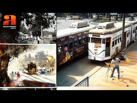 How to paint watercolor on Location - Impressions of Kolkata by Ananta Mandal