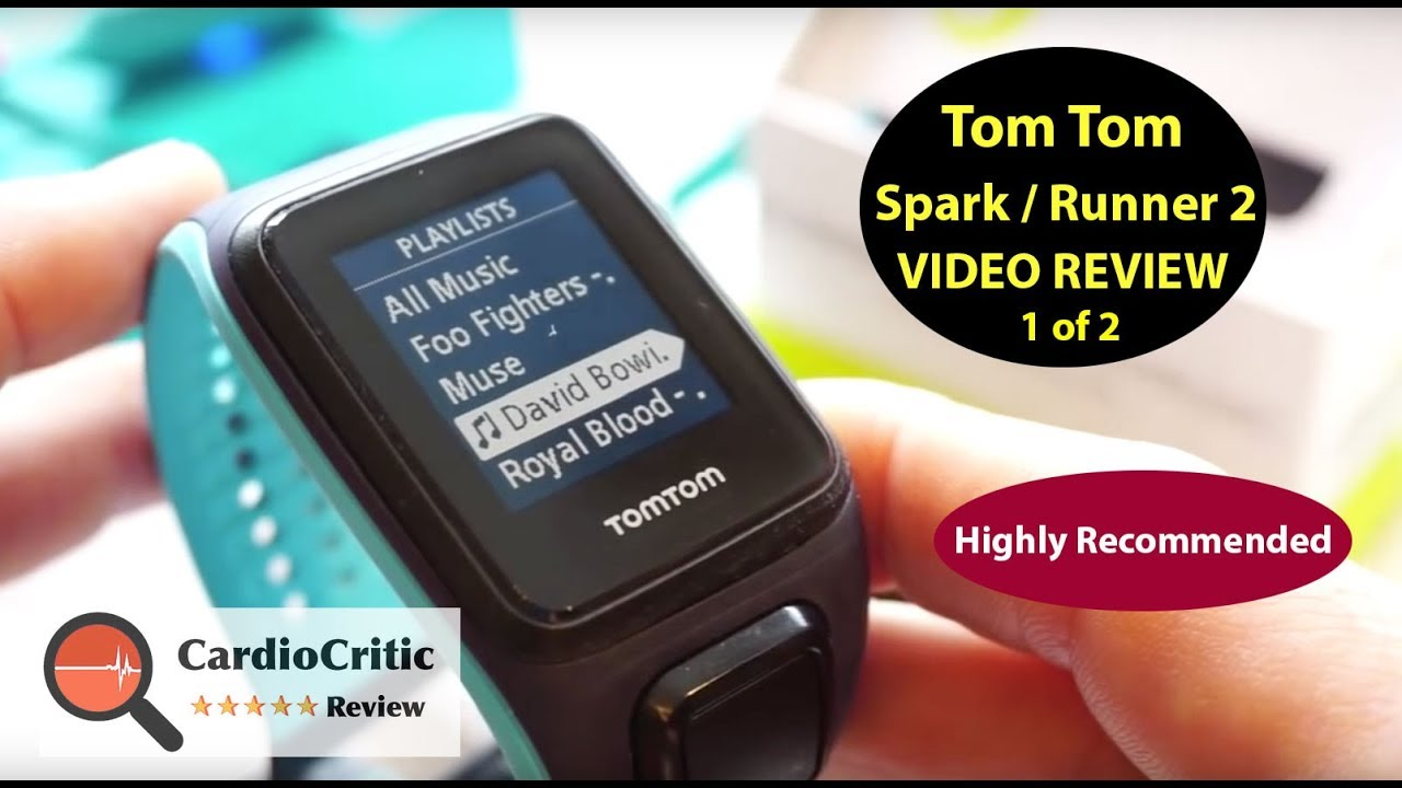 Review Tomtom Runner  Cardio Music Gps Sports Watch With On Board Music Tomtom Spark