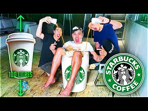 ORDERING WORLD'S BIGGEST $500 STARBUCKS COFFEE (100 LITRES) W/ Sommer Ray