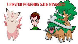 HUGE Updated Pokemon Sale Binder! Help Me Pay My Bills! =D