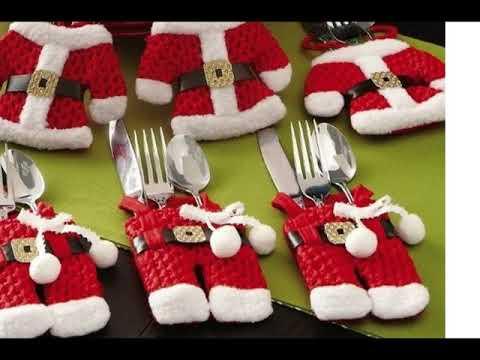 Decoracion de navidad para sillas de comedor youtube - Adornos navidenos para sillas ...