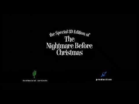the special 3d edition of the nightmare before christmas 1993 2013 end credits blue way - Nightmare Before Christmas Runtime