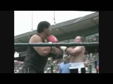 PUNCH OUT JOSE CANSECO VS 60 YEAR OLD GARY HOGAN HOGAN