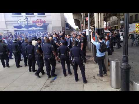 "NYCFC vs Red Bulls Fans ""Riot"" @ Yankee Stadium (merica's oldest rivalry) 5-21-16"