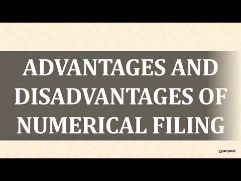 ADVANTAGES AND DISADVANTAGES OF NUMERICAL FILING