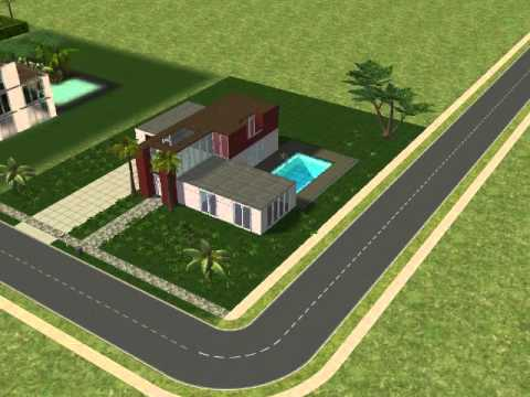 Sims 2 modernes haus bau youtube for Modernes haus sims 3