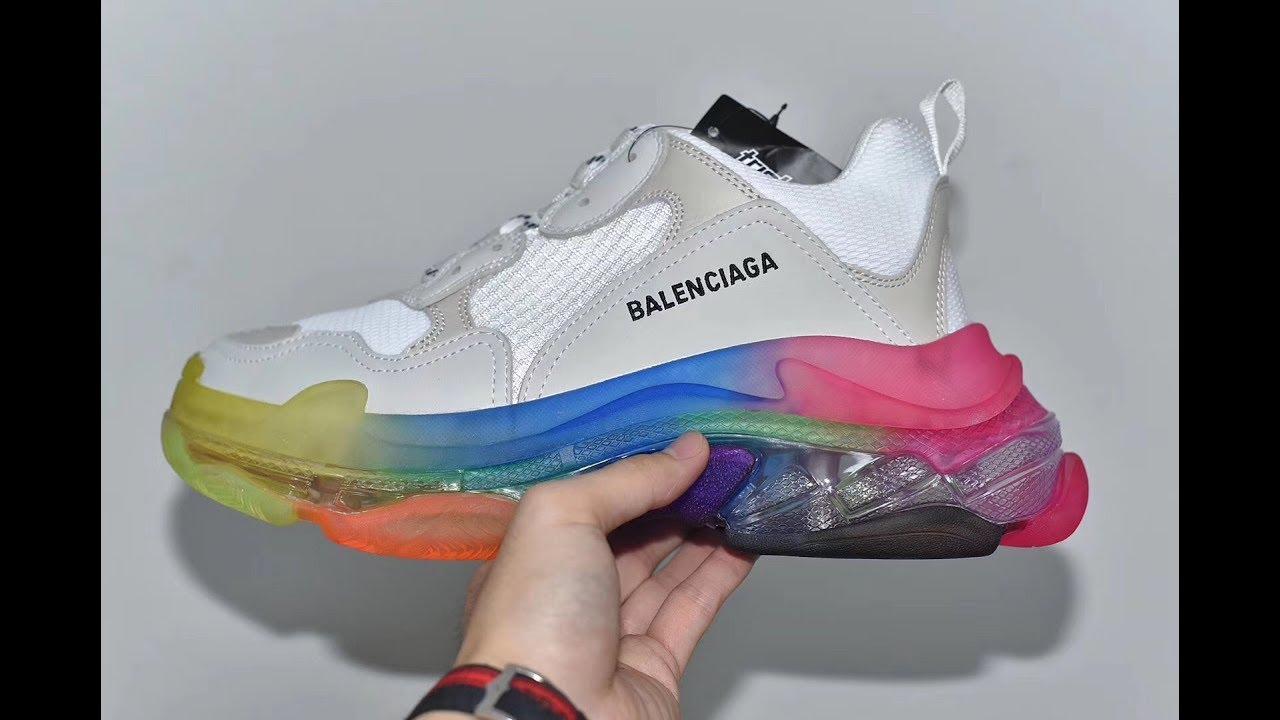 Balenciaga Triple S Queen Sole Rainbow