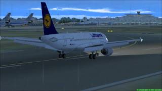FS2004 - Landing at Cologne Bonn Airport-Germany with Lufthansa A319.mp4