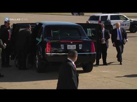 President Trump Arrives in Dallas for Campaign Event