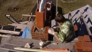 Chimney Rebuilding Part 4 ( Chimney Brick Laying)
