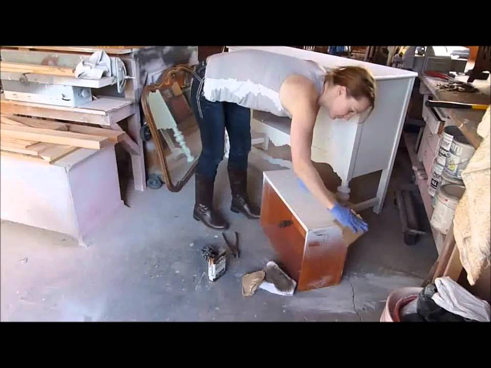 Easy Way To Distress Furniture With Paint Youtube