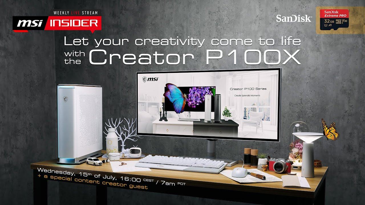 Let your creativity come to life with the Creator P100X