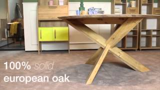 4 Living Presents The Elegant Modern Oak Round Dining Table From Ethnicraft