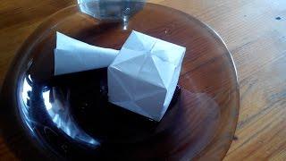 Как сделать водяную бомбочку из бумаги - How to Make a Paper Balloon
