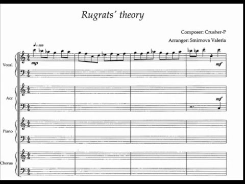Kaai Yuki Rugrats Theory Sheet Music