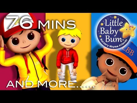 Head Shoulders Knees and Toes  Plus Lots More s  76 Minutes Compilation from LittleBaBum!