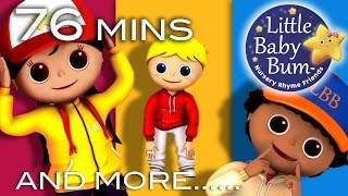 Head Shoulders Knees and Toes | Plus Lots More Videos | 76 Minutes Compilation from LittleBabyBum! thumbnail