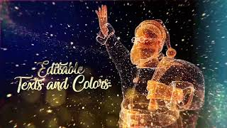 Particle Christmas 2020 After Effects Project Files hive template