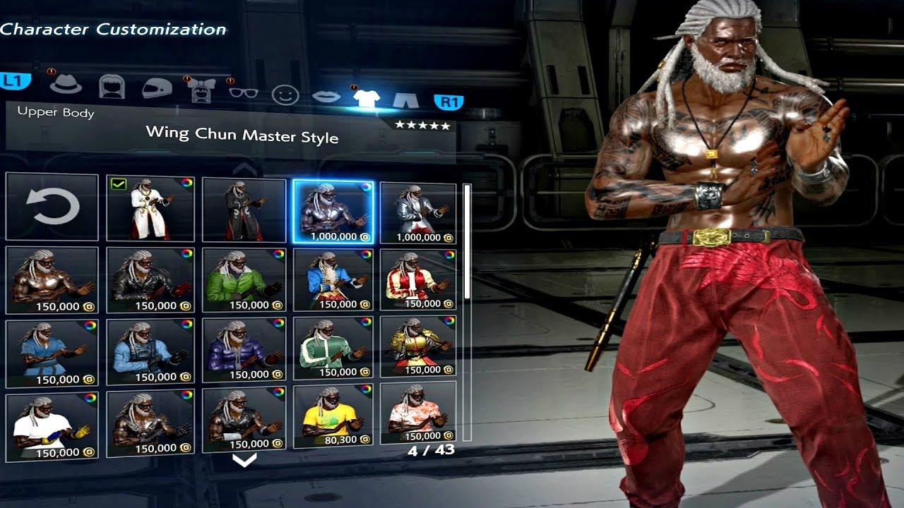 Tekken 7 Leroy Smith Customization 2019 Wing Chun Dlc Character Ps4 Pro