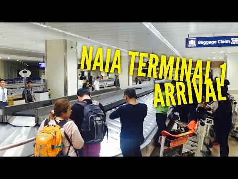 NAIA Terminal 1 Arrival Lounge Baggage Claim Metro Manila by HourPhilippines.com