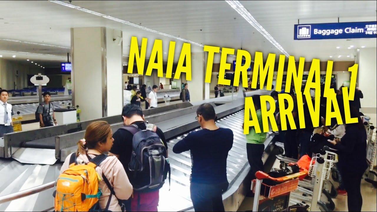 Naia Terminal 1 Arrival Lounge Baggage Claim Metro Manila By
