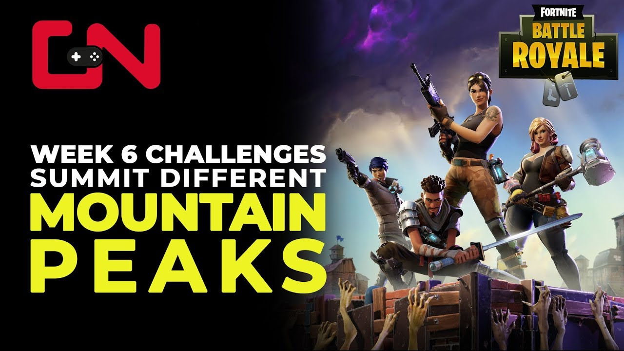Mountain Locations Fortnite Week 6 Fortnite Br Week 6 Challenge Summit Different Mountains Peaks Locations Youtube