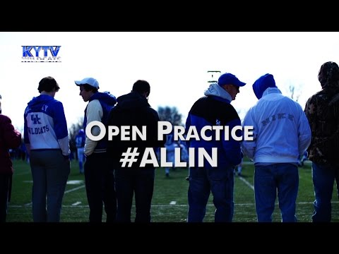 Football Open Practice March 2015