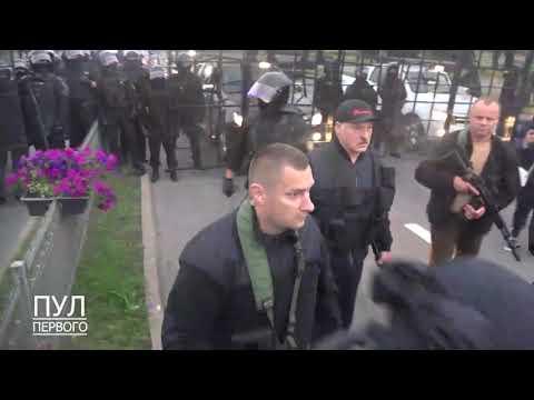 Полное видео Александр и Коля Лукашенко с автоматами на вертолете