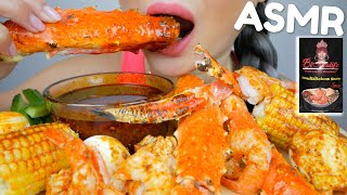 SEAFOOD BOIL WITH Bloves SPICY Smackalicious Sauce ASMR *NO TALKING Eating Sounds | N.E ASMR