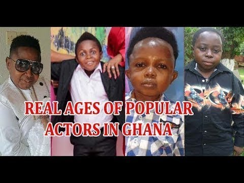 HAHAHAA   REAL AGES OF SHORT POPULAR ACTORS IN GHANA