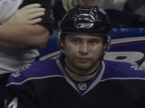 Alex Frolov Scores A Hat Trick Against Blues (2008)