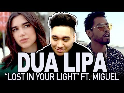 Dua Lipa - Lost In Your Light feat. Miguel (Official Video) REACTION!!!