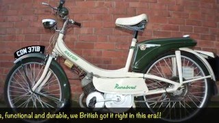 Classic British Raleigh Runabout RM6 vintage moped for sale with mikeedge.co.uk