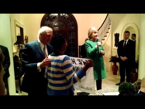 Black Lives Matter interrupts Hillary at private $500/person event in South Carolina 2/24/16