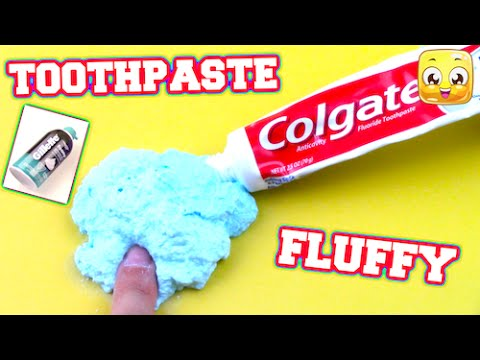 DIY Fluffy Toothpaste Slime! No Borax, Liquid Starch ...