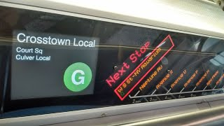NYC Subway HD: Ride Alstom R160A G Train Full Northbound Trip (Coney Island to Court Square)