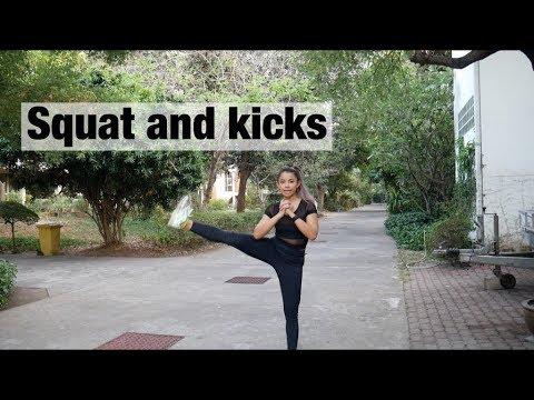Squat and kicks