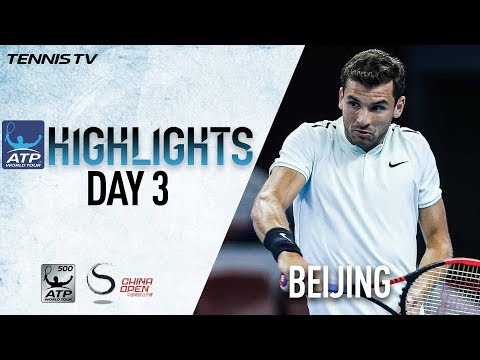 Highlights: Dimitrov & Kyrgios Advance On Wednesday In Beijing 2017