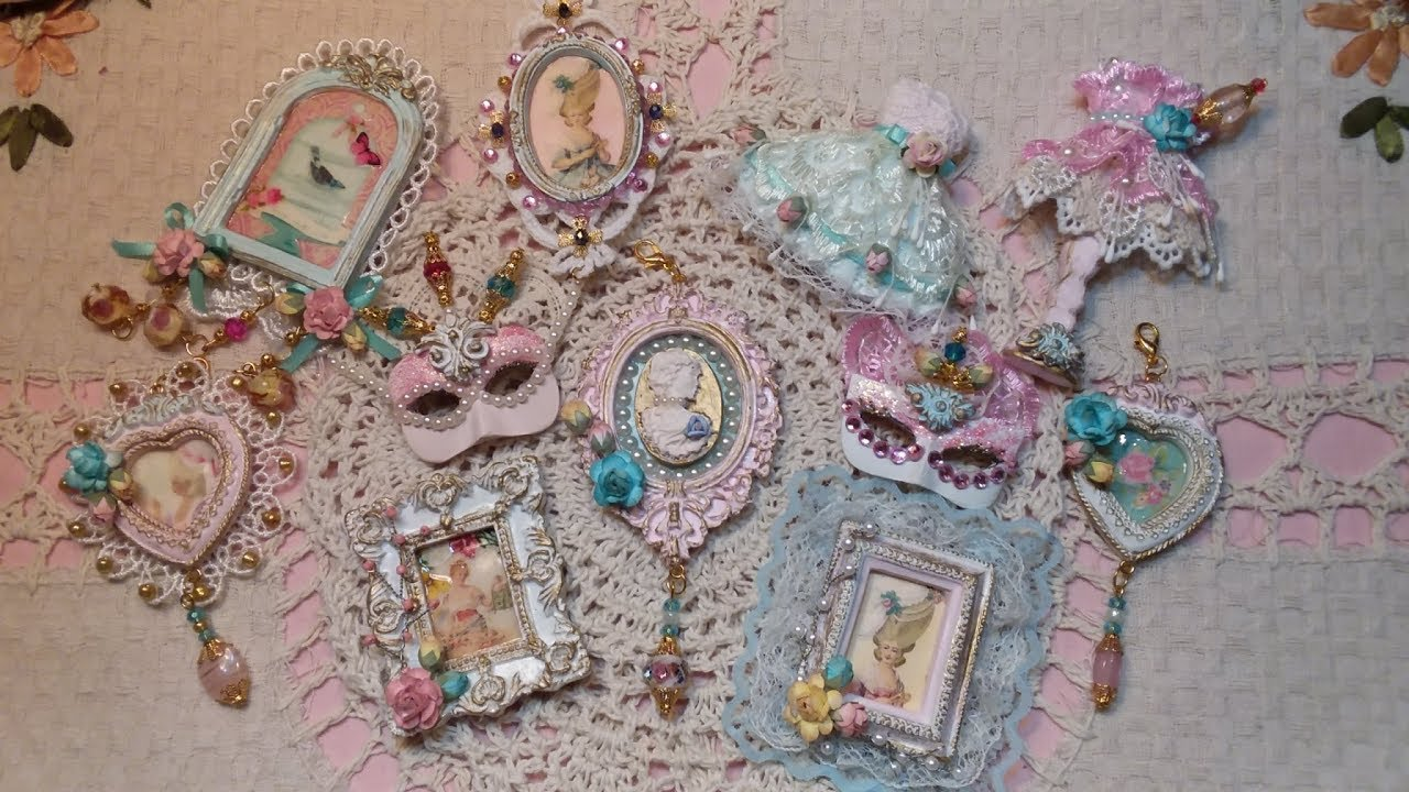 Embellished Clay Frames/Charms Shabby Chic/2017 - YouTube