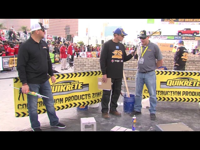 QUIKRETE® Demos Concrete Repair products at the 2017 SPEC MIX BRICKLAYER 500® World Championship