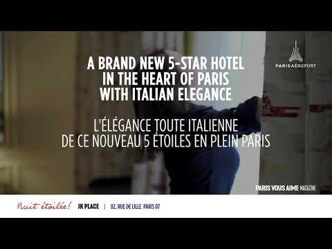 Paris vous aime Magazine : JK Place Paris, un hôtel de charme à l'italienne